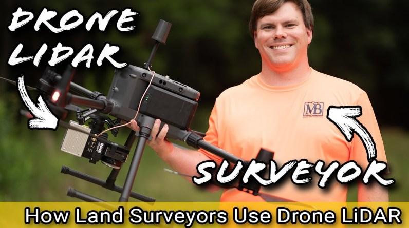 How do Land Surveyors uses Drone LiDAR technology?