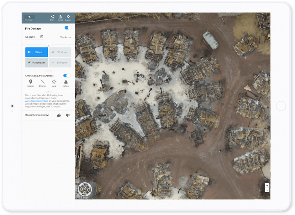 Live Map   DroneDeploy Live Map Provides Aerial Awareness When it Matters Most