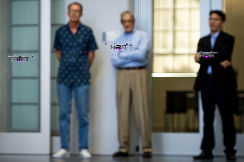Caltech's Center for Autonomous Systems Technologies (CAST) holds a tour of the new facility which includes an aerodrome, space robotics lab and advanced mobility lab on Monday, Oct. 23, 2017. (Photo by Sarah Reingewirtz, Pasadena Star-News/SCNG) .
