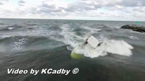 Drone pilot Kevin Cadby captured a video with his drone of a boat capsizing in Jupiter Inlet, Florida. A 13-year old surfer who was nearby witnessed the event and came to the unfortunate boater's rescue.