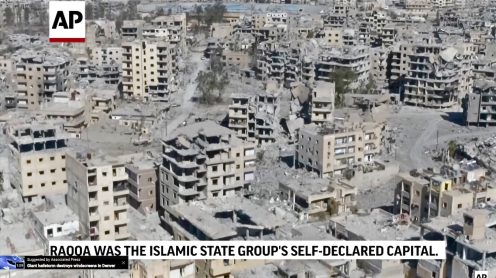 Drone video shows utter destruction of Raqqa, Syria