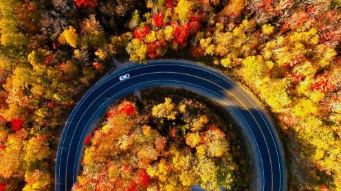 Fantastic fall foliage of New England - Drone video