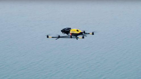 Intel's Falcon 8+ drone observes polar bears in the Arctic