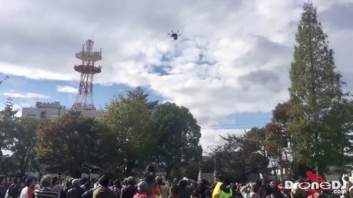 Drone carrying candy crashes into crowd, injuring six in Japan