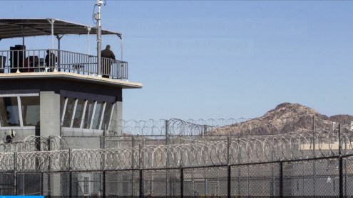 Drone delivering phones and drugs crashes inside Buckeye prison yard0006