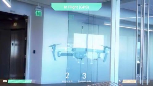 Today, Epson, providers of the Moverio AR smart eyewear platform, and DJI, the Chinese drone manufacturer, announced a glassed based augmented reality drone flight simulator app. The app has been developed by Y Media Labs exclusively for the Epson Moverio BT-300 (FPV/Drone Edition) smart glasses. This app could be used as a drone pilot training tool to prevent drone incidents from happening.
