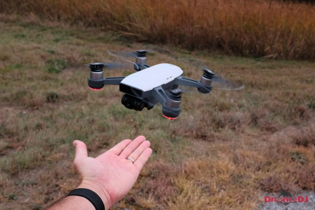 Intelligent Flight Modes - land in your palm - DJI Spark Mini-Drone Review DroneDJ-7