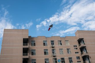 A remote-control plane operated by the student Xiong Sheyu. Credit Lam Yik Fei for The New York Times