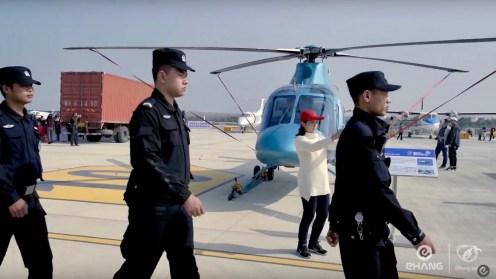 Screenshots from Ehang video