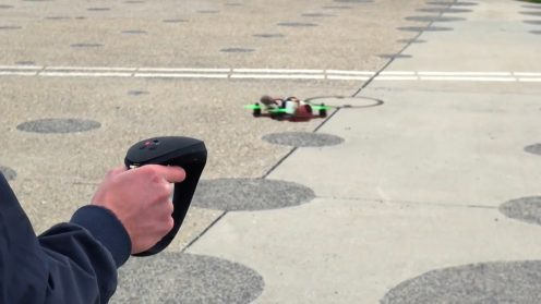 Fly your drone with a haptic feedback joystick 2