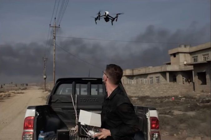 Joey L talks about flying a DJI Inspire drone through the ISIS Winter 0005