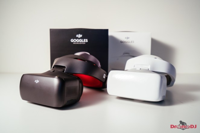 The DJI Goggles Racing Edition in the foreground.