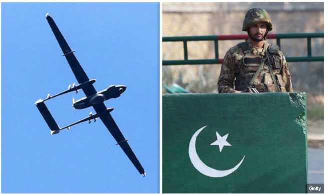 Pakistani army claims to have shot down an Indian 'spy drone' 2