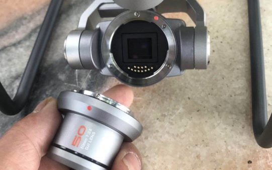 DJI Phantom photos shows interchangeable lens system with 50mm f2.8 lens 0002f