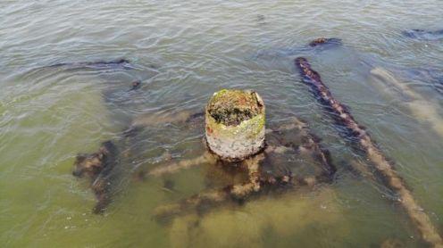Drone video of Civil War-era shipwreck captured by North Carolina beachgoer 2