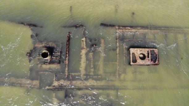 Drone video of Civil War-era shipwreck captured by North Carolina beachgoer 3