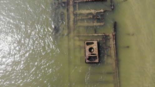 Drone video of Civil War-era shipwreck captured by North Carolina beachgoer