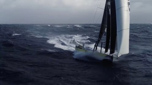 Watch this crew fly and catch a drone from a sailing Volvo Ocean Race yacht [video] 0004