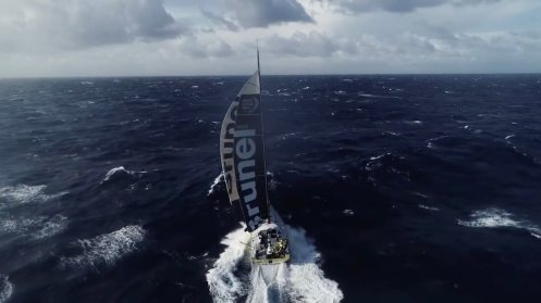 Watch this crew fly and catch a drone from a sailing Volvo Ocean Race yacht [video] 0006