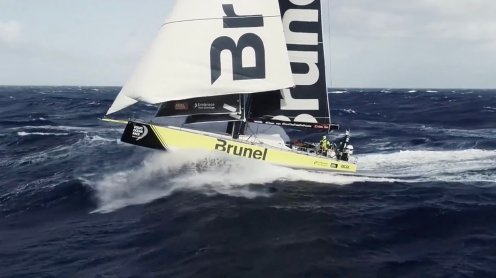 Watch this crew fly and catch a drone from a sailing Volvo Ocean Race yacht [video] 0007
