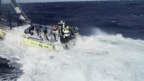 Watch this crew fly and catch a drone from a sailing Volvo Ocean Race yacht [video] 0011