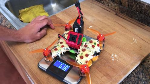 Pizza delivered by pizza-drone 2