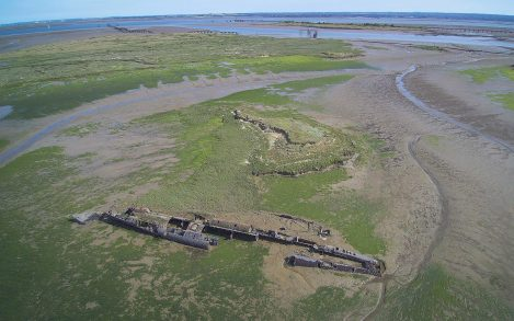 Check out these drone photos of an U-boat shipwreck in England