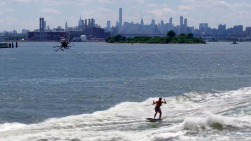 Casey Neistat celebrates the 4th of July by drone surfing on New York City's East River [video]