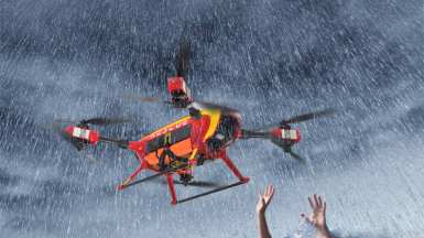 Auxdrone Lifeguard drone assists in the rescue of three people in Puerto de Sagunto, Spain 0002