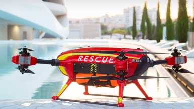 Auxdrone Lifeguard drone assists in the rescue of three people in Puerto de Sagunto, Spain 0004