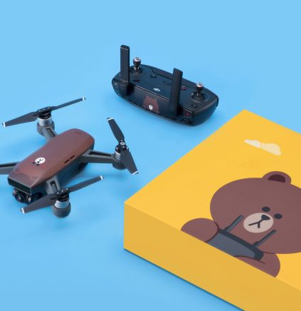 DJI Spark - DJI has teamed up with Line Friends to create brown Spark mini-drone0004