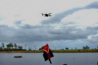 Lifeguards use bait release system to release lifevest from DJI Mavic Pro 3