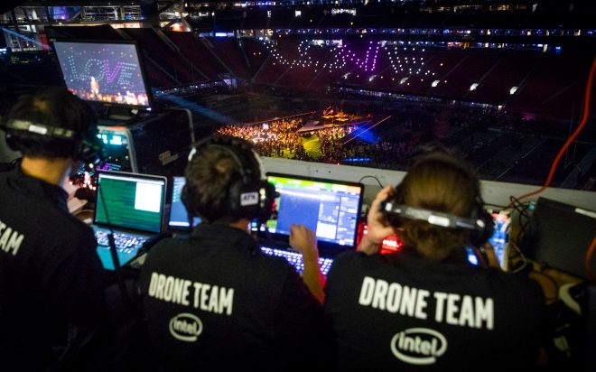 Intel drone lightshow during Super Bowl 20190005
