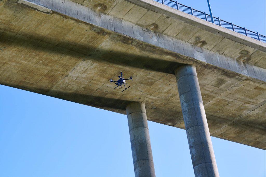 drone ud på inspektions opgave ved dronefyn