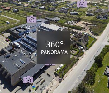 Panoramabillede udviklet af dronefyn for hvidbjerg strand