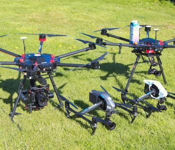 Billede af Dronefyns Droneflaade med DJI matrice 600 og DJI nspire