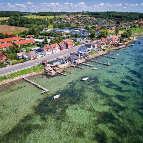 Drone foto Faaborg Fjord