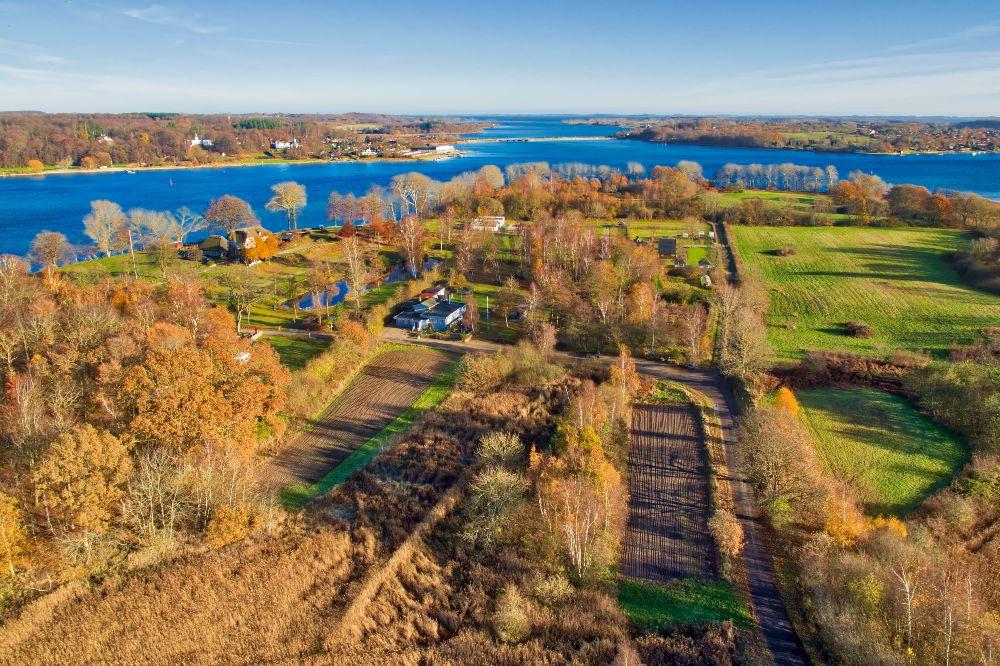 Efterårs stemning fra drone Tåsinge
