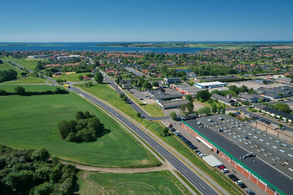dronefoto taget i faaborg