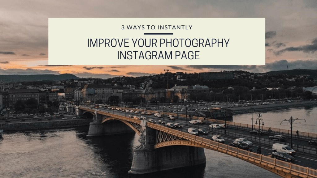 This photo is from the drone photography bible article titled 3 Ways To Instantly Improve Your Photography Instagram Page. It is of a bridge in budapest.