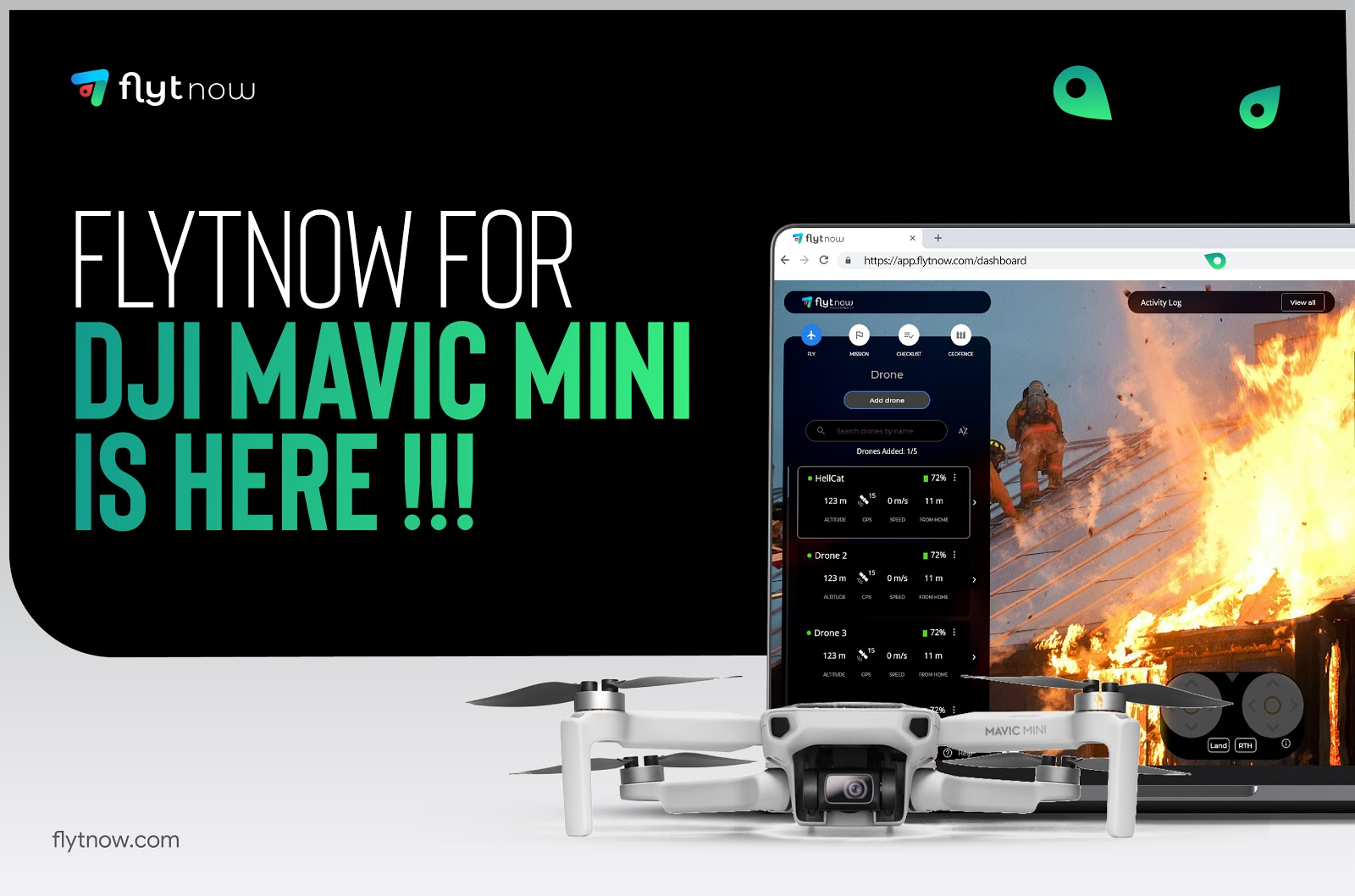 FlytNow Adds Support for DJI MAVIC MINI to Enable First Responder & Aerial Security Operations