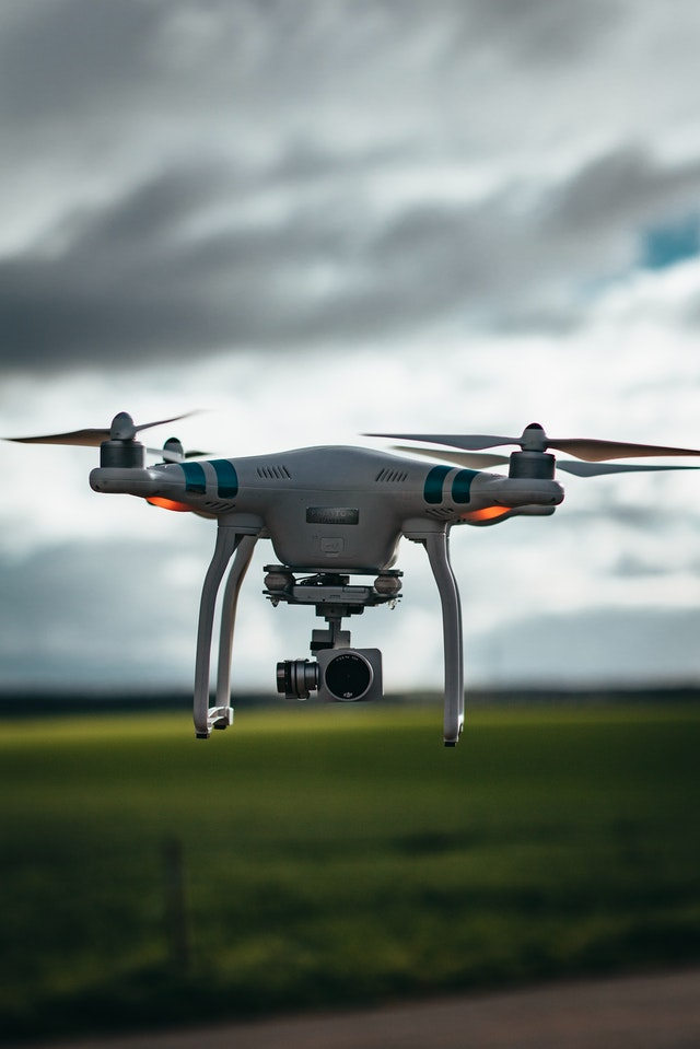A drone in flight - Photo of a drone from the drone photography bible article Things to Check When Buying a Used Drone