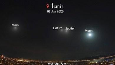 Photo of İzmir'de Dolunay, Jupiter, Saturn ve Mars'ın Muhteşem Geçişi