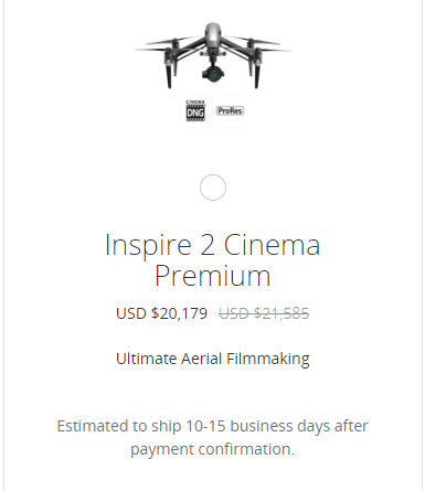 f6aecc454c4 DJI's $20,000 Inspire 2 Bundle Is Seriously Loaded