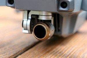 ND Filter auf der Kamera einer Drohne