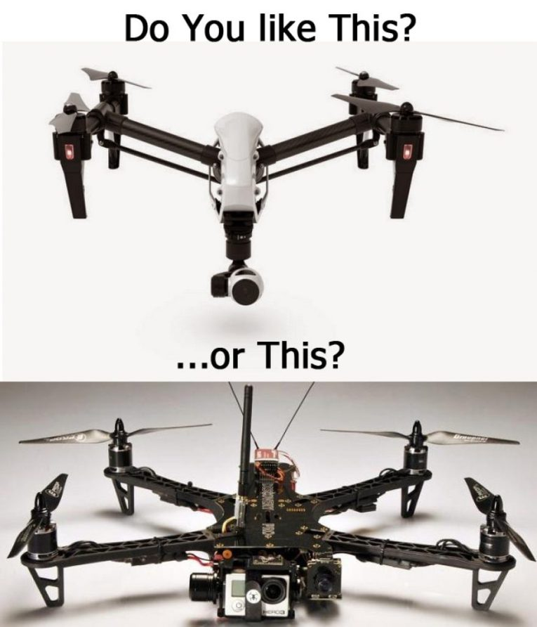Build your own drone or buy one