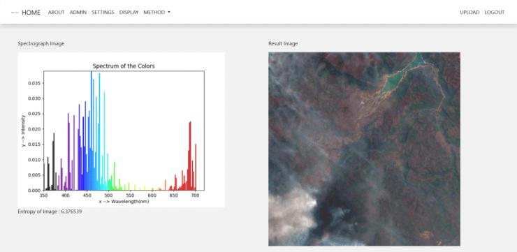 Australian bush fire smoke and haze - DroneVee Method 2 scan of Sentinel 2 image