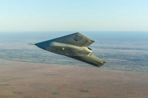 BAE System's Taranis drone in flight