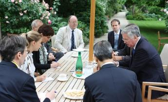 M_Fallon with journalists - France June2015