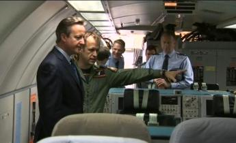David Cameron visits RAF Waddington and Coningsby - Credit BBC Radio Lincolnshire